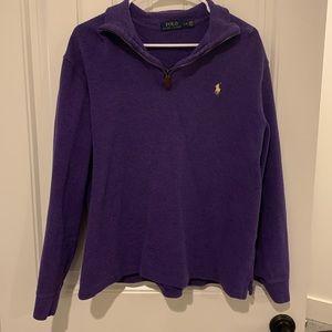 Purple pullover quarter zip